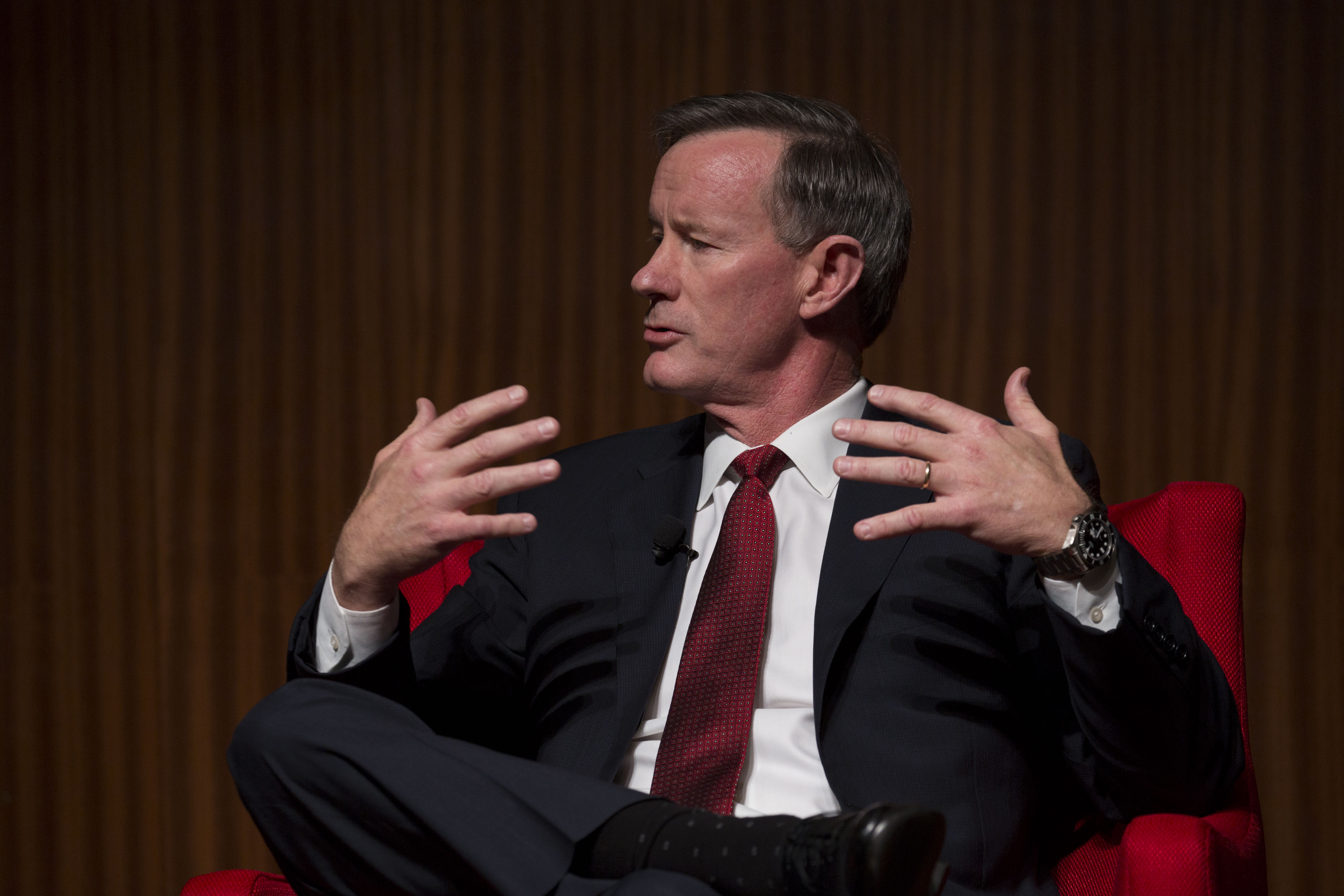 Picture of McRaven speaking at a past event.